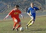 Андрей Галкин (в красной форме) сотоварищи постараются вернуть Твери профессиональный футбол